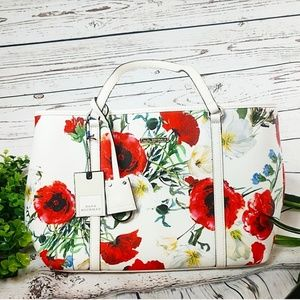 NWT Dana Buchman Vegan Floral Leather Shoulder Bag